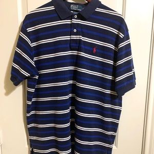 Polo Ralph Lauren Blue Striped Polo XL